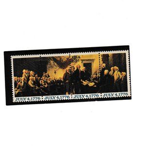 July 4 1776 FOUR 13 cent stamps